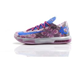 Kevin Durant's Aunt Pearl Honored with New Nike KD 6 Colorway ❤ liked on Polyvore featuring shoes, nikes and sneakers