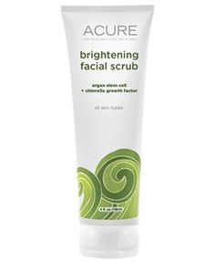 Argan Stem Cell + Chlorella Growth Factor Brightening Facial Scrub   Acure Organics