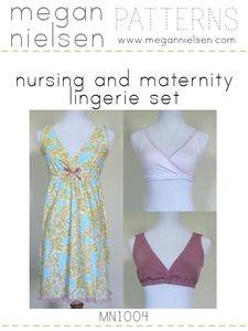 GREAT nursing & maternity night gown, tank & bra pattern.  $9.00