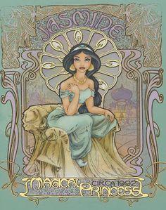 Art Nouveau Disney Princesses