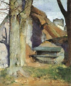 Helene Schjerfbeck Finland) - Shadow on the Wall, 1883 Helene Schjerfbeck, Helsinki, Landscape Art, Landscape Paintings, Gravure Photo, Royal Academy Of Arts, Art Society, Chur, Lucian Freud