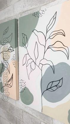Painting Studio, Diy Painting, Polaroid Wall, Wall Drawing, Mural Wall Art, Wall Treatments, Home Deco, Wall Design, Watercolor Art