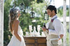 Backyard Wedding in Grass Valley, California - Couple exchanges vows - Sarah Maren Photographers