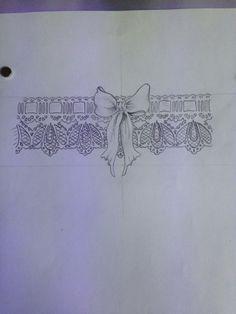 Victorian lace garter