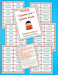 Six Syllable Types - pinned by @PediaStaff – Please Visit  ht.ly/63sNt for all our pediatric therapy pins