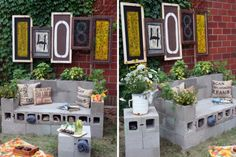 DIY Outdoor Cinder Block Sofa