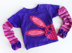 Joey's Aunt makes the most adorable kids clothes!! peek-a-boo bunny for easter