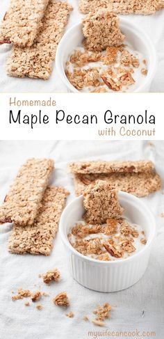 One of our breakfast and snack favorites is this Homemade Maple Pecan Granola with Coconut. The kids and grown-ups, both love it! My quest for homemade granola began when the local grocery stores didn't carry granola brands we liked, so we decided to learn how to make granola. After a little trial and error we landed on this granola recipe that we love. It's results in crunchy granola or granola bars that make a great snack or breakfast item. Great plain or atop your morning yogurt or…
