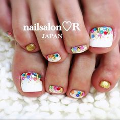 20 Adorable Toe Nail Art Inspirations – My hair and beauty Cute Pedicure Designs, Girls Nail Designs, Toe Nail Designs, Pedicure Ideas, Pedicure Nail Art, Toe Nail Art, Nail Nail, Diy Nails, Cute Toe Nails