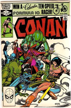 "Conan (on the cover ""Conan The Barbarian"" inside) Vol. 1, No. 130. U.S. Marvel Comic. Jan. 1982."