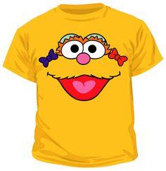 Sesame Street Zoe Head Gold Toddler T-shirt