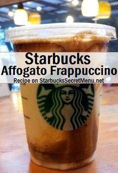 Starbucks Secret Menu Affogato Frappuccino. Recipe here: http://starbuckssecretmenu.net/affogato-frappuccino-starbucks-secret-menu/