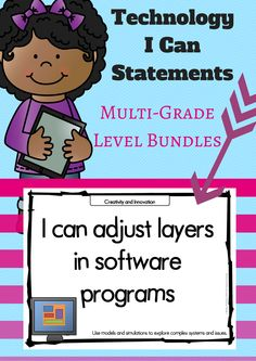 Technology I Can Statements BUNDLE Technology I Can Statements BUNDLE Elaine Merical emerical School Technology I Can Statements for the educational technology standards Available nbsp hellip Technology Lessons, Use Of Technology, Technology Integration, Educational Technology, Instructional Technology, I Can Statements, Computer Lab, Computer Literacy, Creative Teaching