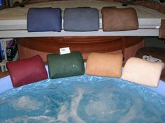 Leathertex vinyl exclusive Softub colored pillows. These are weighted pillows 12 inch x 12 inch x 2 inch