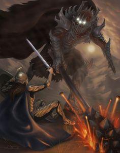 Fingolfin vs Morgoth by mattleese87.deviantart.com on @DeviantArt