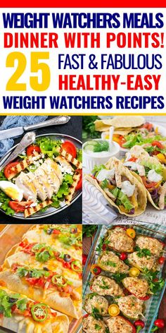 If you're looking for easy weight watchers meals for dinner with SmartPoints, then look no further! This collection of 25 weight watchers meals for dinner is just what you need to jumpstart your diet! Whether you prefer one-pan or crockpot, chicken or beef, this list has you covered with great tasting Weight Watchers meals-with points! All of these weight watchers recipes are fabulous, but my favorite is #4! #weightwatchers #ww #smartpoints #weightlossrecipes #crockpot #crockpotrecipes