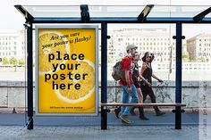 Bus Station Poster Mockup by Eleven on @creativemarket