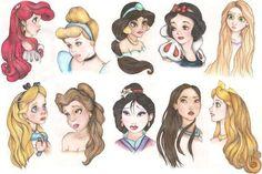Drawings of Princesses