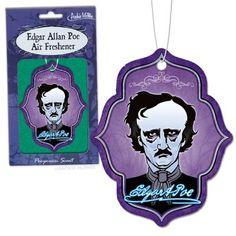 "Edgar Allan Poe Air Freshener - Smells like ""Poe-pourri!"" Literary air freshers *"
