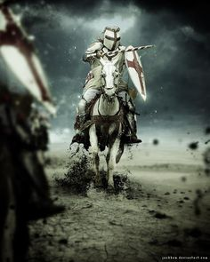There is a knight who fights for justice. Medieval - Templar - Crusader - Knight