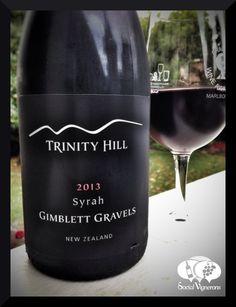 2013 Trinity Hill Winery Gimblett Gravels Syrah Hawkes Bay New Zealand wine glass bottle front label social vignerons small