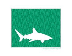 doing a shark silhouette (negative) wall decal. gonna look siiiiiiiiick!