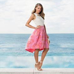 Wild Orchid Forever New nice! Work Fashion, Spring Fashion, Autumn Fashion, Pretty Outfits, Cool Outfits, Pretty Clothes, Pink Midi Skirt, Dress Up Day, Feminine Style