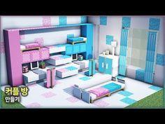⛏️ Minecraft Interior Tutorial :: 💑 Cute Shared Room 💙 - YouTube Minecraft Mansion, Easy Minecraft Houses, Minecraft Modern, Minecraft Room, Minecraft Plans, Minecraft Decorations, Minecraft Blueprints, Minecraft Crafting Recipes, Minecraft House Tutorials