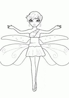 fairy coloring pages for kids printable free one