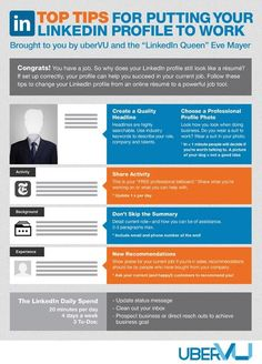 Top Tips for Putting Your LinkedIn Profile to Work (Infographic)