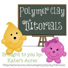 All kinds of Polymer Clay Tutorials on KatersAcres polymer clay blog & website.