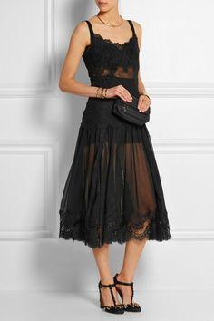 Black Dress enter a transparent cloth from Dolce & Gabbana