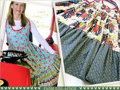 Farm Girl Vintage Style Reversible Apron | Sew4Home