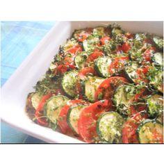 夏野菜のティアン(ズッキーニとトマトのオーブン焼き)のレシピ   料理教室IMAGINER