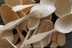 Birch Spoons carved with axe and knife