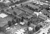 Aerial view of St. Patrick's Cathedral, Toowoomba, Queensland, 24 March, 1935 [picture]