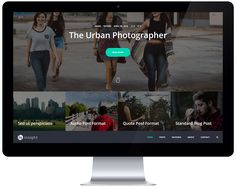 Free WordPress Theme for the Urban Photographer – Insight | GT3 Themes