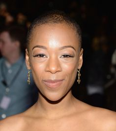 The Orange Is the New Black actress Samira Wiley at BCBG Max Azria's Fall 2014 show.