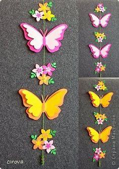 Eu Amo Artesanato: Móbile de borboletas de papel