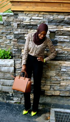 Summer Work Wear: Animal Print and Neon Accents... and Eid Outfit Idea