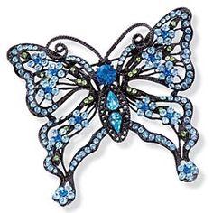Daniel Lyons' Blue Butterfly Brooch in Valentine's Day 2013 from Uno Alla Volta on shop.CatalogSpree.com, my personal digital mall.