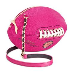 Chic Betsey Johnson Football Crossbody / Shoulder Bag, NEW with Tags Women Bags Handbags from top store Unique Handbags, Unique Purses, Cute Handbags, Unique Bags, Purses And Handbags, Luxury Handbags, Cheap Handbags, Popular Handbags, Pink Handbags