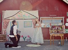 @Amy Horn...reminded me of you!!! A dollhouse styled shoot ~ turned surprise proposal!