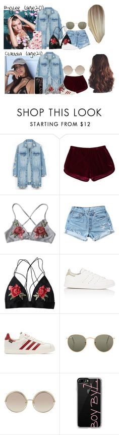 """Rylee & Claudia // 5-28-17 // Viewing Apartments ✨❤️"" by dream-families ❤ liked on Polyvore featuring LE3NO, Levi's, Kismet, adidas, adidas Originals, Ray-Ban, Marc Jacobs, Casetify and TheLancasterFamily"