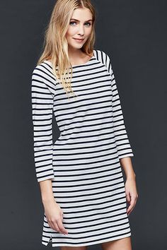 The long-sleeved Breton T shirt dress