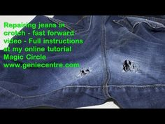 She Wore Holes In The Crotch Of Her Favorite Jeans But Does Something Brilliant To Fix Them Watch Diy Joy