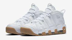 White Gum Nike Air More Uptempo