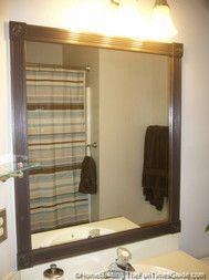 How To Build A Custom Frame For A Bathroom Mirror.