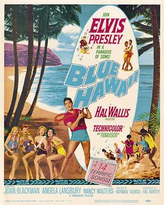 """""""Dreams come true/In blue Hawaii/And mine could all come true/This magic night of nights with you."""" Happy to all the music lovers from Manu Antiques! Today's feature is this Elvis Presley """"Blue Hawaii"""" reproduction movie poster! Old Movie Posters, Vintage Posters, Old Movies, Vintage Movies, Elvis Presley Blue Hawaii, Elvis Presley Movies, Dancehall Reggae, Blue Hawaiian, Classic Movies"""