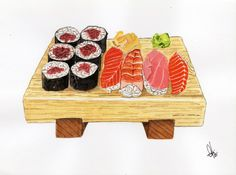 Check out this item in my Etsy shop https://www.etsy.com/listing/237125506/sushi-original-watercolor-painting-a5